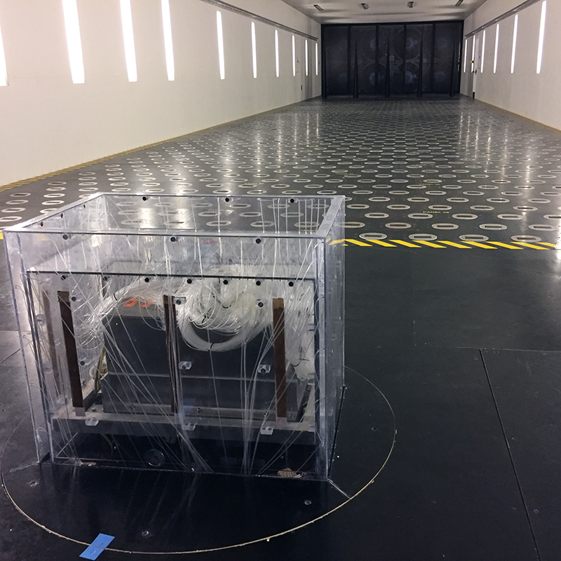 Wind tunnel structure testing
